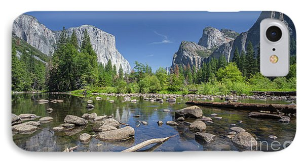 Yosemite Valley View IPhone Case by JR Photography