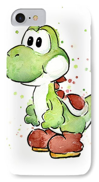 Yoshi Watercolor IPhone 7 Case by Olga Shvartsur