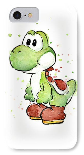 Yoshi Watercolor IPhone Case by Olga Shvartsur