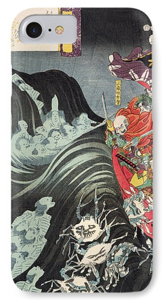 Yoshitsune With Benkei And Other Retainers In Their Ship Beset By The Ghosts Of Taira IPhone Case by Utagawa Kuniyoshi