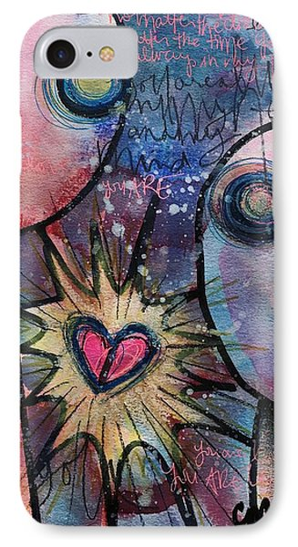 IPhone Case featuring the painting You Are Always In My Heart  by Laurie Maves ART