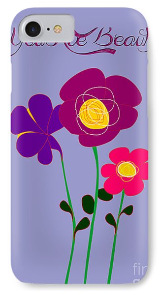 You Are Beautiful - Poppies IPhone Case