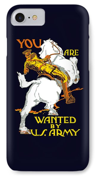 You Are Wanted By Us Army IPhone Case by War Is Hell Store