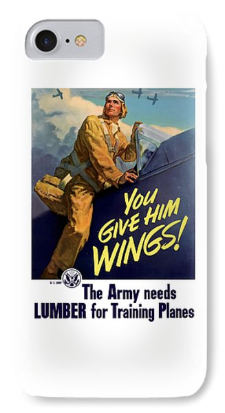 You Give Him Wings - Ww2 IPhone Case by War Is Hell Store