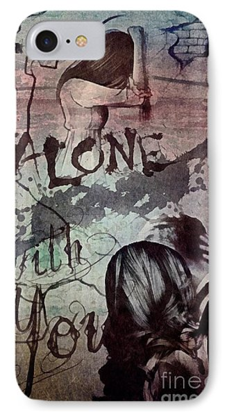 IPhone Case featuring the mixed media You by Mo T