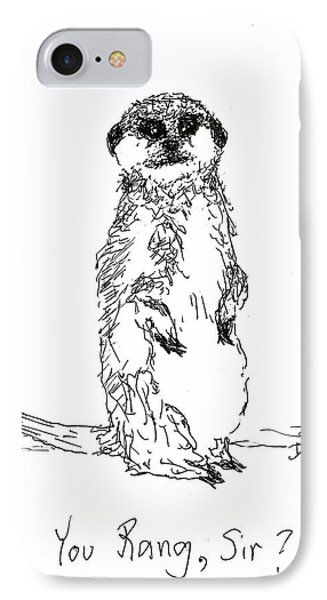 You Rang, Sir? IPhone Case by Denise Fulmer