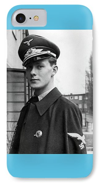 Young And Handsome German Luftwaffe Officer With Cloak IPhone Case by Charles Meagher