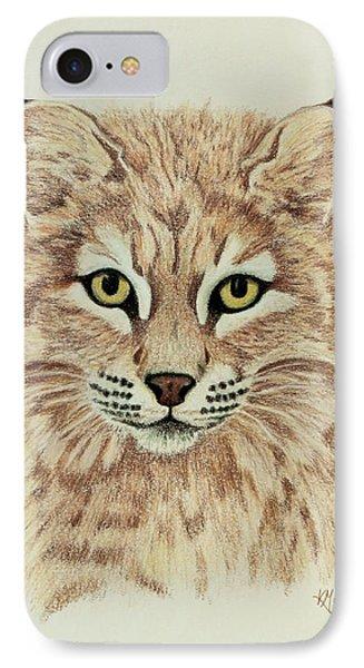 Young Bobcat IPhone Case by Karen Mahnken