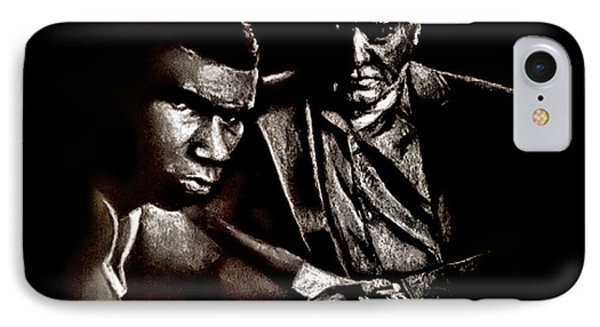 Young Boxer And Soon To Be World Champion Mike Tyson And Trainer Cus Damato Phone Case by Jim Fitzpatrick