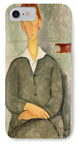 Young Boy With Red Hair IPhone Case by Amedeo Modigliani