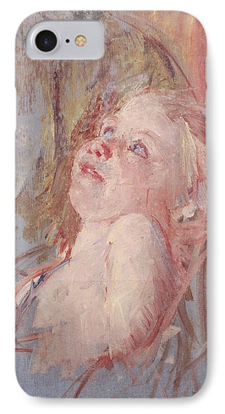 Young Child In Its Mother's Arms IPhone Case by Mary Stevenson Cassatt