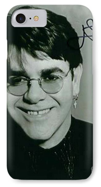 Young Elton John Autographed Photo IPhone Case by Pd