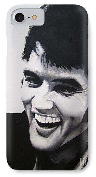 IPhone Case featuring the painting Young Elvis by Ashley Price
