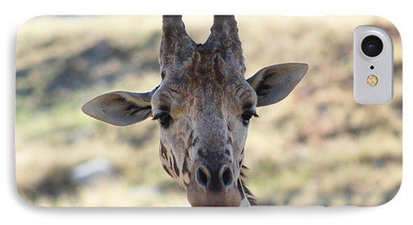 Young Giraffe Closeup Phone Case by Colleen Cornelius