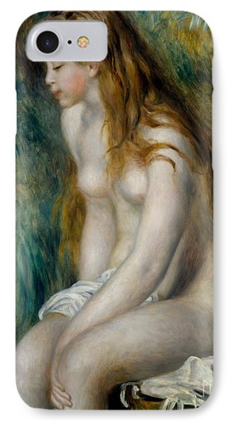 Young Girl Bathing, 1892 IPhone Case by Pierre Auguste Renoir