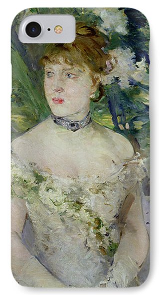 Young Girl In A Ball Gown Phone Case by Berthe Morisot