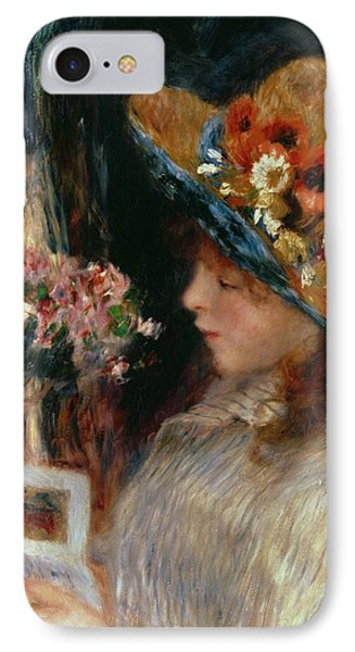 Young Girl Reading IPhone Case by Pierre Auguste Renoir