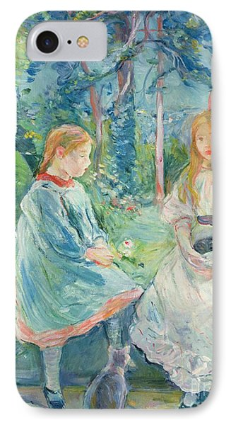 Young Girls At The Window IPhone Case by Berthe Morisot