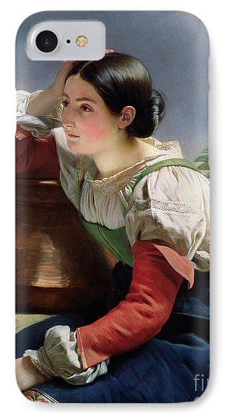 Young Italian At The Well IPhone Case by Franz Xaver Winterhalter
