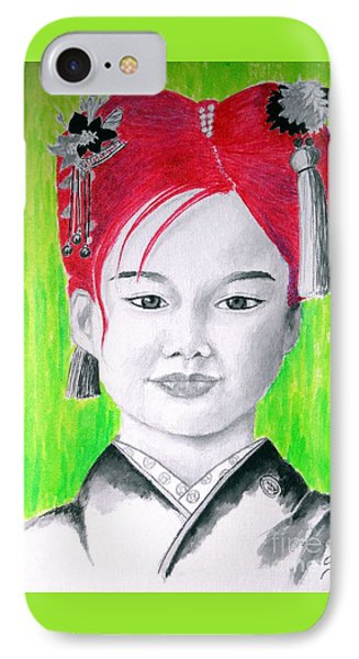 Young Japanese Beauty -- The Original -- Portrait Of Japanese Girl IPhone Case