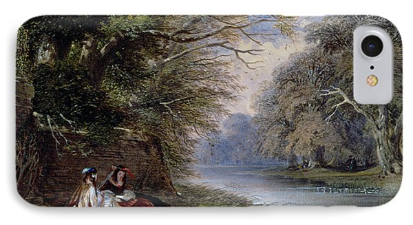 Young Ladies By A River Phone Case by John Edmund Buckley