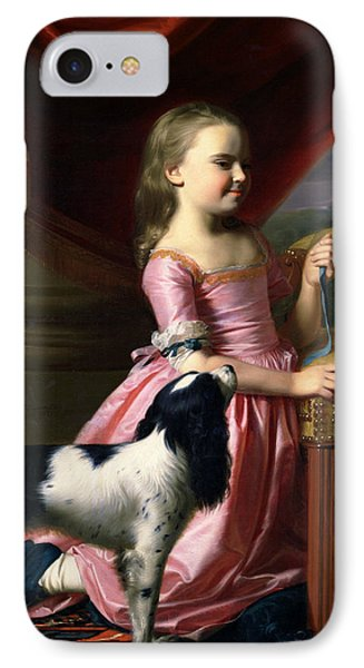 Young Lady With A Bird And A Dog IPhone Case by John Singleton Copley