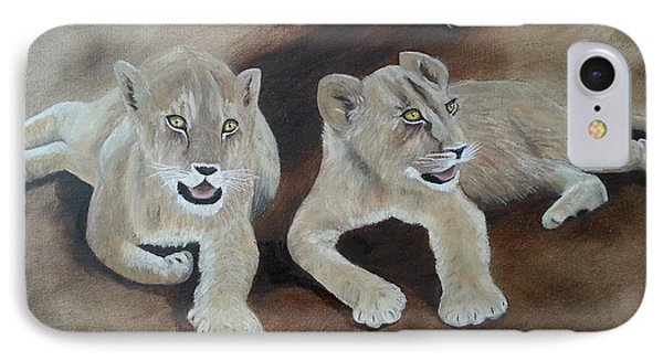 Young Lions IPhone Case by Bev Conover