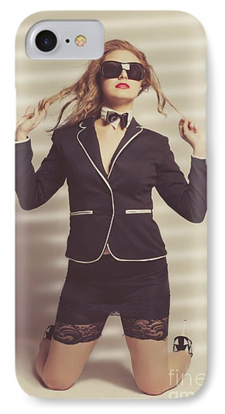 Young Magnificent Woman In Expensive Fashion IPhone Case by Jorgo Photography - Wall Art Gallery