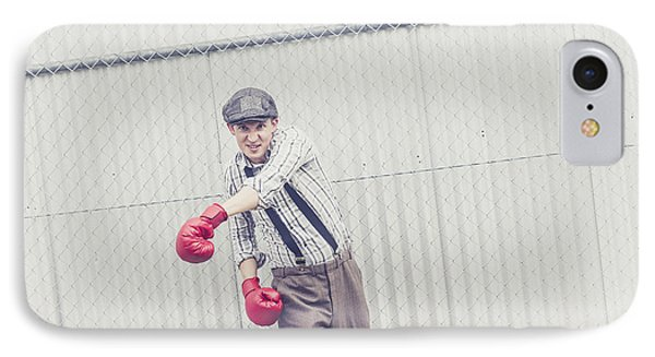 Young Male Boxer Throwing A Offensive Jab IPhone Case by Jorgo Photography - Wall Art Gallery