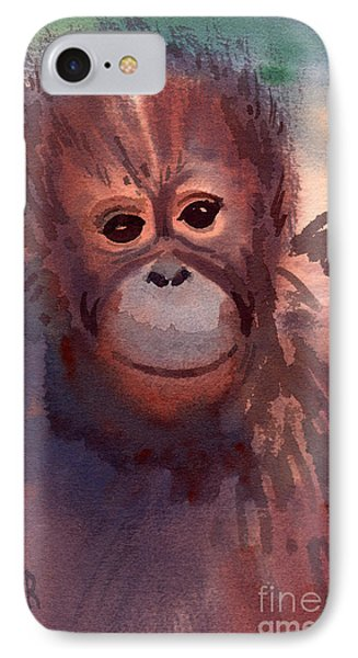 Young Orangutan IPhone 7 Case by Donald Maier