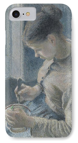 Young Peasant Having Her Coffee IPhone Case