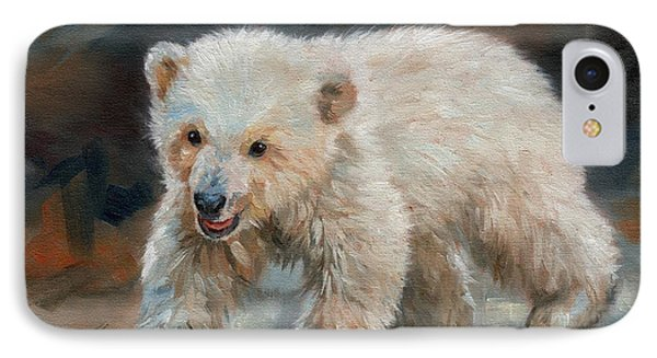 Young Polar Bear IPhone Case by David Stribbling