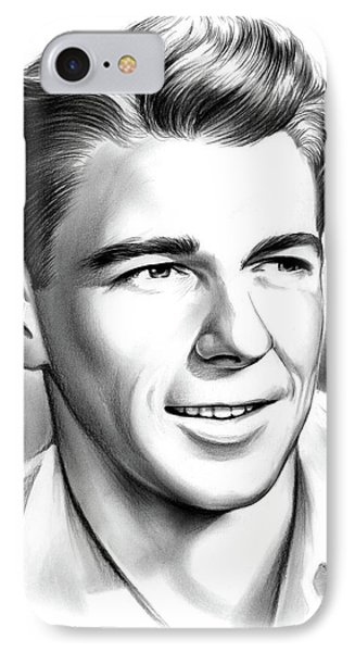 Young Reagan IPhone Case by Greg Joens