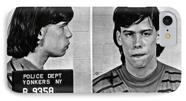 Young Steven Tyler Mug Shot 1963 Pencil Photograph Black And White IPhone 7 Case by Tony Rubino