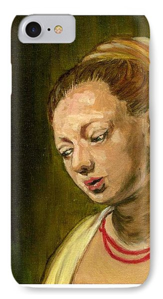 Young Woman Phone Case by Asha Sudhaker Shenoy