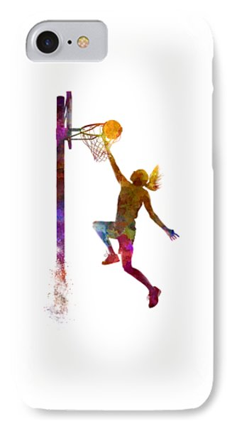 Young Woman Basketball Player 04 In Watercolor IPhone 7 Case
