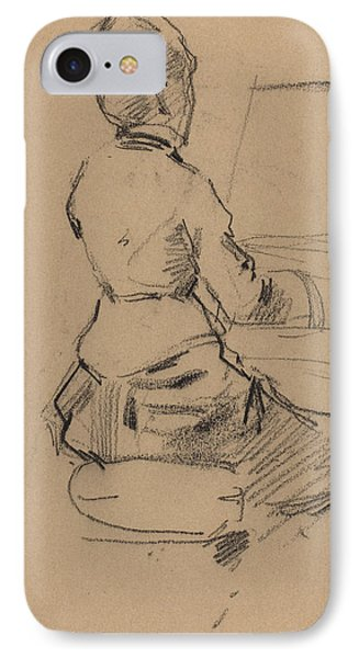 Young Woman Seated At A Piano IPhone Case