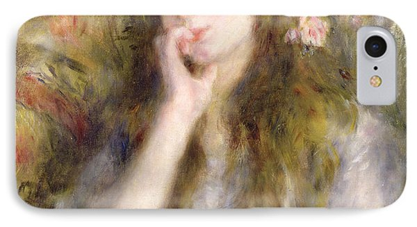 Young Woman Seated IPhone Case by Pierre Auguste Renoir