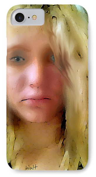 Young Woman IPhone Case by Walter Chamberlain