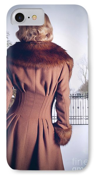 Young Woman Wearing Coat IPhone Case
