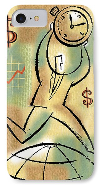 IPhone Case featuring the painting Your Income by Leon Zernitsky