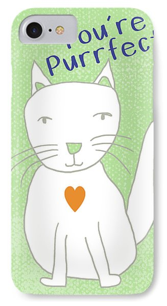 You're Purrfect- Art By Linda Woods IPhone Case