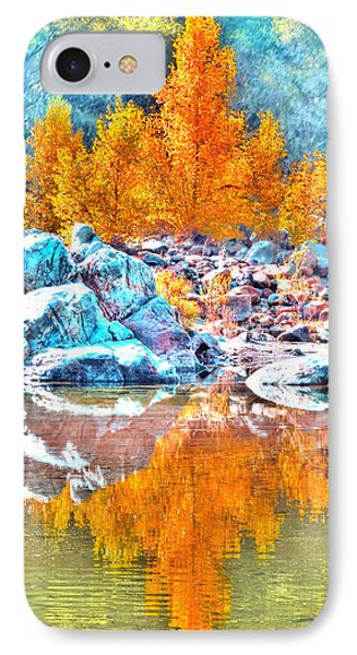 IPhone Case featuring the photograph Yuba River Fall Reflection by William Havle