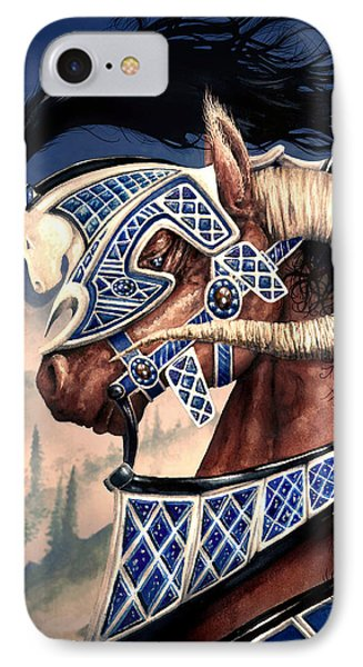 IPhone Case featuring the painting Yuellas The Bulvaen Horse by Curtiss Shaffer