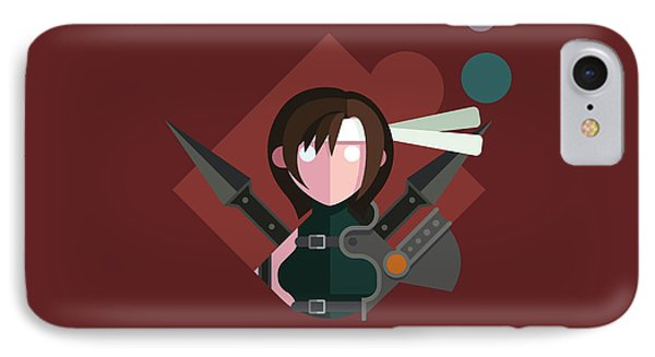 IPhone Case featuring the digital art Yuffie by Michael Myers