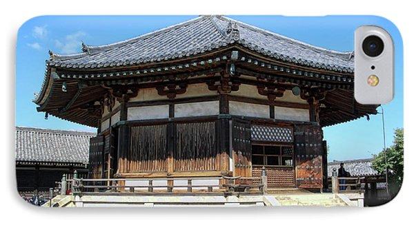 Yumedono Hall Of Dreams - Nara Japan IPhone Case by Daniel Hagerman
