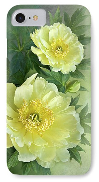 IPhone Case featuring the digital art Yumi Itoh Peony by Thanh Thuy Nguyen