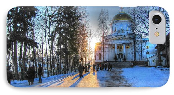 Yury Bashkin Russian Church In Winter IPhone Case by Yury Bashkin
