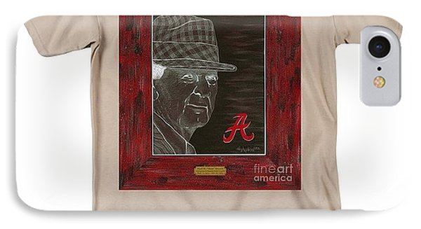 Bear Bryant  Phone Case by Herb Strobino