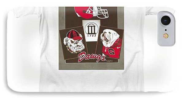 Dawgs Poster Phone Case by Herb Strobino
